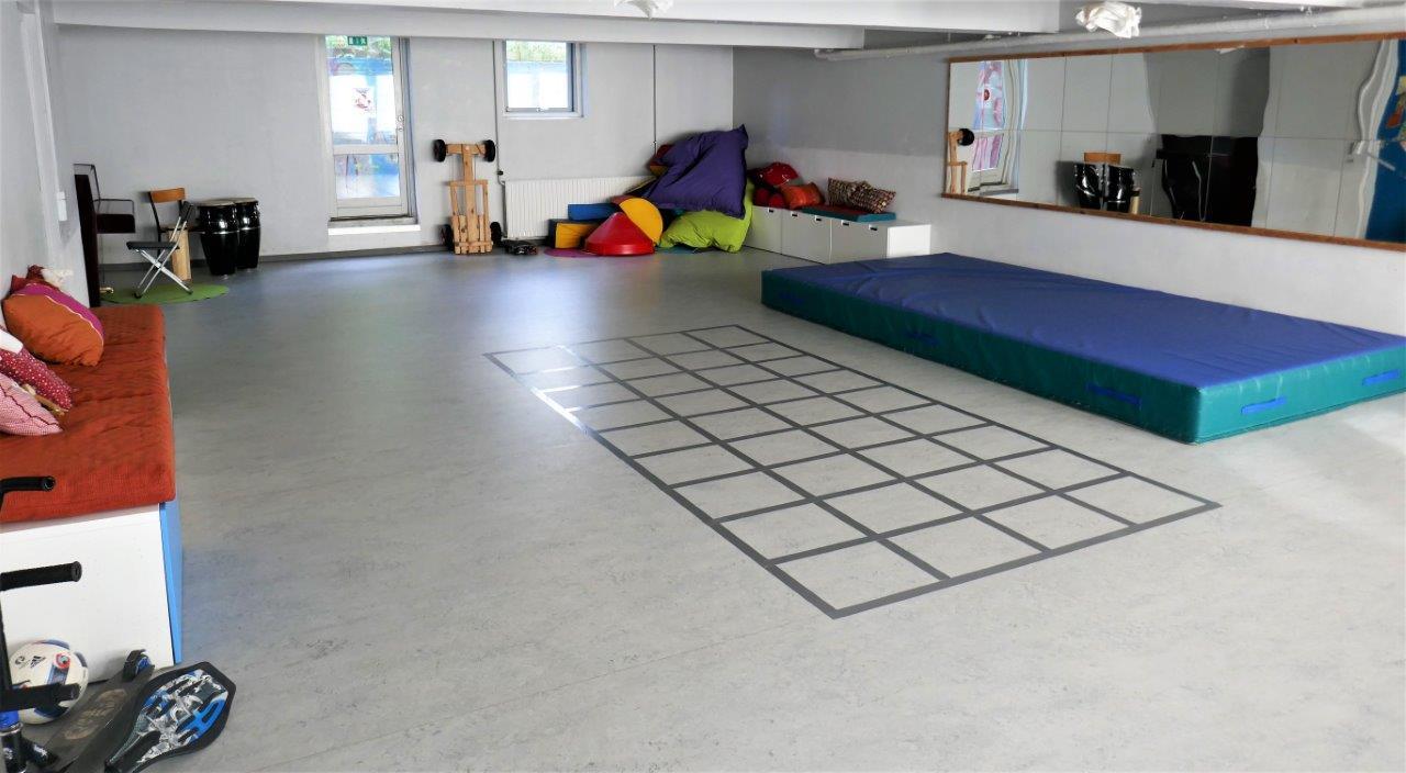 Foto af Børnehusets gymnastik og legesal